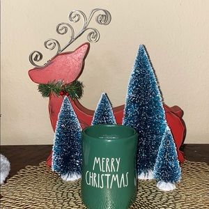 Rae Dunn Merry Christmas Green Scented Candle